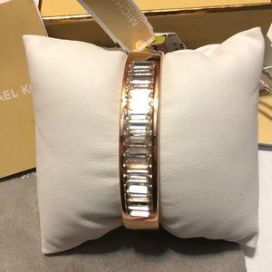 Michael Kors Rose Gold Bracelet Hinged  Bracelet .
